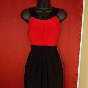 Maurices red black dress
